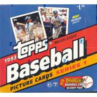 1993 Topps Series 1 Baseball Jumbo Box