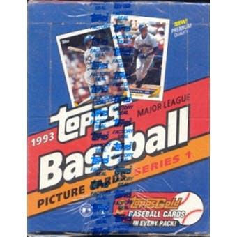 1993 Topps Series 1 Baseball Rack Box (Jeter Rc.)