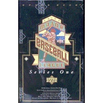 1993 Upper Deck Series 1 Baseball Hobby Box