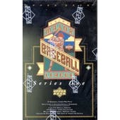 1993 Upper Deck Series 1 Baseball Retail Box (Reed Buy)