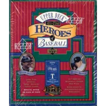 1993 Upper Deck All-Time Heroes of Baseball Baseball Hobby Box
