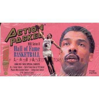 1993/94 Action Packed Hall Of Fame Series 2 Basketball Hobby Box