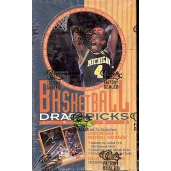 1993/94 Classic Draft Picks And Prospects Basketball Hobby Box