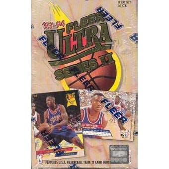 1993/94 Fleer Ultra Series 2 Basketball Hobby Box