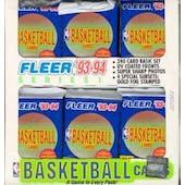 1993/94 Fleer Series 1 Basketball Jumbo Box (Reed Buy)