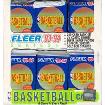 1993/94 Fleer Series 1 Basketball Jumbo Box
