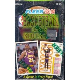 1993/94 Fleer Series 2 Basketball Hobby Box