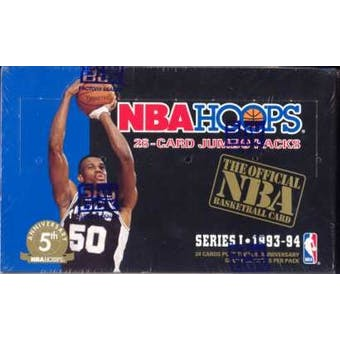 1993/94 Hoops Series 1 Basketball Jumbo Box