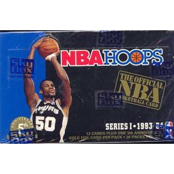 1993/94 Hoops Series 1 Basketball Hobby Box