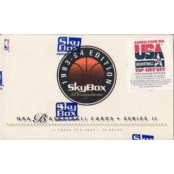 1993/94 Skybox Premium Series 2 Basketball Hobby Box