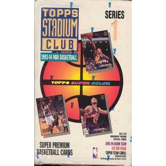 1993/94 Topps Stadium Club Series 1 Basketball Hobby Box
