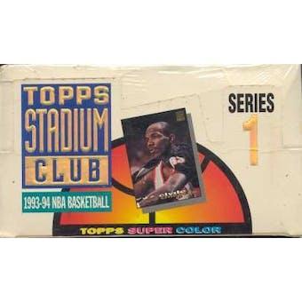 1993/94 Topps Stadium Club Series 1 Basketball Jumbo Box