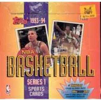 1993/94 Topps Series 1 Basketball Jumbo Box