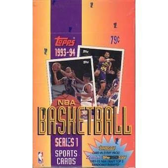 1993/94 Topps Series 1 Basketball Hobby Box