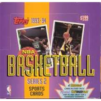 1993/94 Topps Series 2 Basketball Jumbo Box
