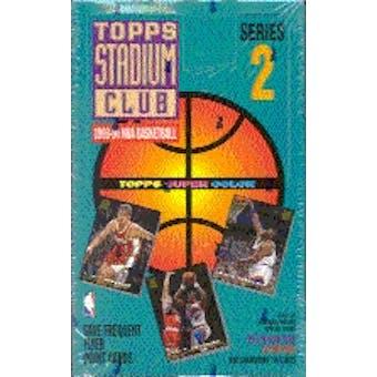 1993/94 Topps Stadium Club Series 2 Basketball Hobby Box