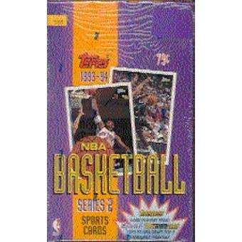 1993/94 Topps Series 2 Basketball Hobby Box