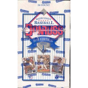 1993 Donruss Series 1 Baseball Jumbo Box