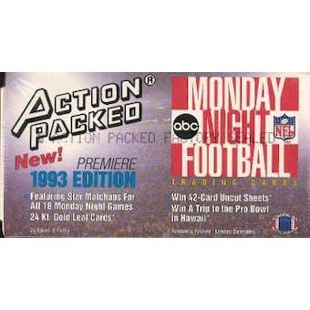 1993 Action Packed Monday Night Football Hobby Box