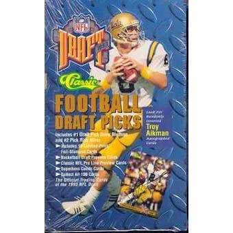 1993 Classic Draft Picks Football Hobby Box