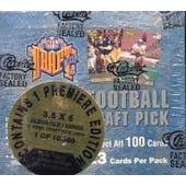 1993 Classic Draft Picks Football Jumbo Box