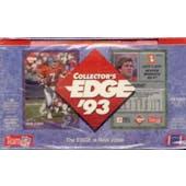 1993 Collector's Edge Football Hobby Box