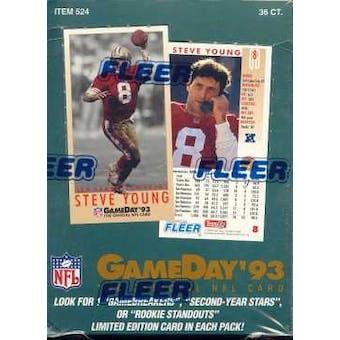 1993 Fleer Game Day Football Hobby Box
