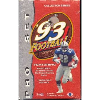 1993 Pro Set Football Hobby Box