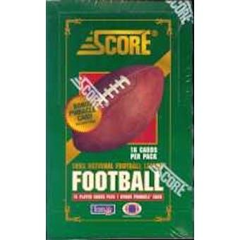 1993 Score Football Hobby Box