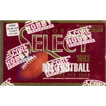 1993 Score Select Football Hobby Box