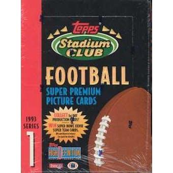 1993 Topps Stadium Club Series 1 Football Hobby Box
