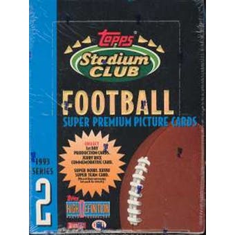 1993 Topps Stadium Club Series 2 Football Hobby Box