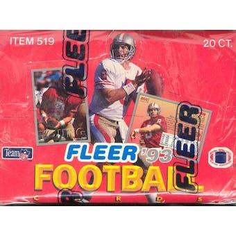 1993 Fleer Football Jumbo Box