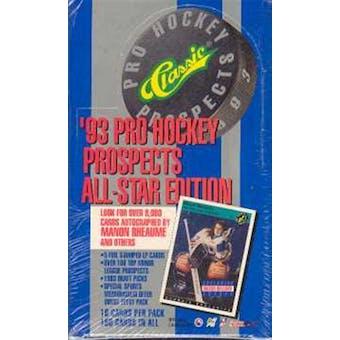1993/94 Classic Pro All-Star Edition Hockey Hobby Box