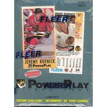 1993/94 Fleer Power Play Series 1 Hockey Hobby Box