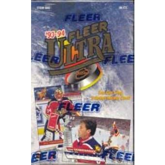 1993/94 Fleer Ultra Series 2 Hockey Hobby Box