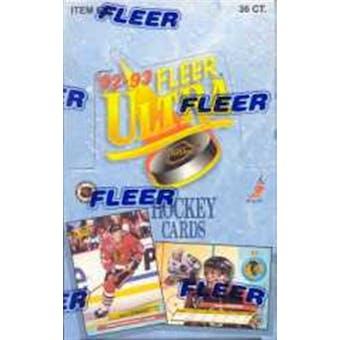 1992/93 Fleer Ultra Series 1 Hockey Hobby Box