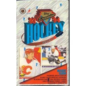 1993/94 O-Pee-Chee Premier Series 2 Hockey Hobby Box