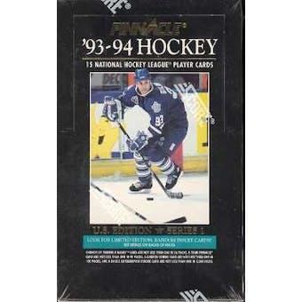 1993/94 Pinnacle Series 1 Hockey Hobby Box