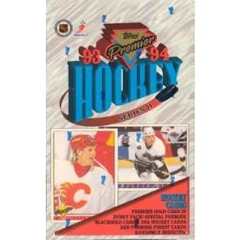 1993/94 Topps Premier Series 2 Hockey Hobby Box