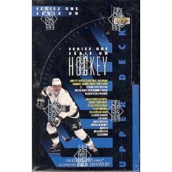 1993/94 Upper Deck Bilingual Series 1 Hockey Hobby Box
