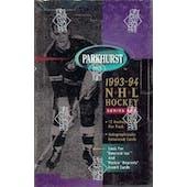 1993/94 Parkhurst Series 1 Hockey Hobby Box (Reed Buy)
