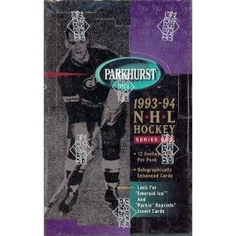 1993/94 Parkhurst Series 1 Hockey Hobby Box