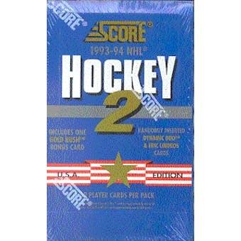 1993/94 Score U.S. Series 2 Hockey Hobby Box