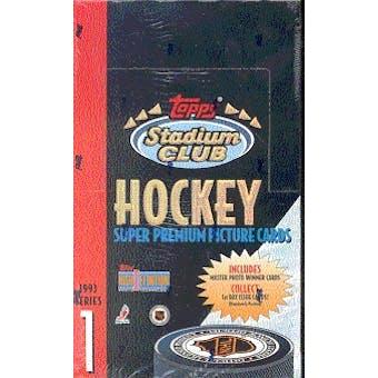 1993/94 Topps Stadium Club Series 1 Hockey Hobby Box