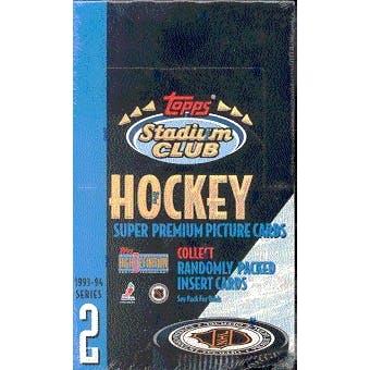 1993/94 Topps Stadium Club Series 2 Hockey Hobby Box