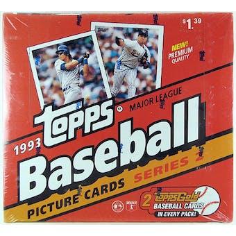 1993 Topps Series 2 Baseball Cello Box