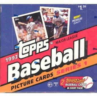 1993 Topps Series 1 Baseball Cello Box