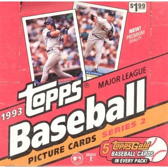 1993 Topps Series 2 Baseball Jumbo Box