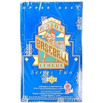 1993 Upper Deck Series 2 Baseball Retail Box